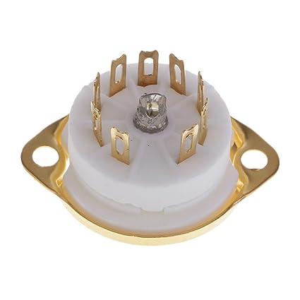 Amazon com: Homyl Gold Plated 1PC Ceramic 9pin PCB Mounting Tube
