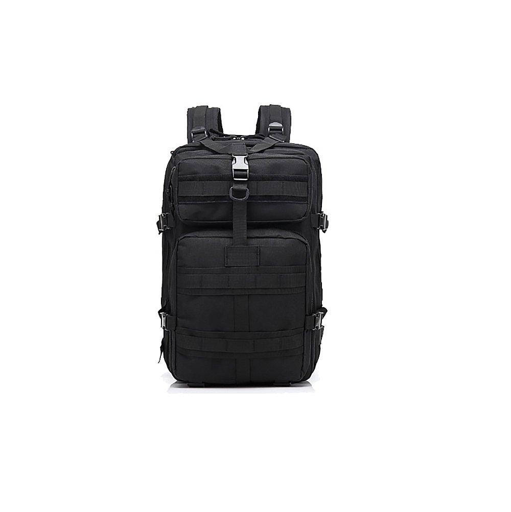 Black HAWK COMMANDOS 45L ミリタリータクティカルバックパック アサルトパック コンバットバックパック トレッキングバッグ 旅行 ハイキング用 B07DV9B5RD ブラック 45L