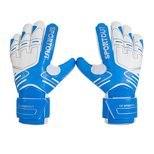 Youth&Adult Goalie Goalkeeper Gloves,Strong Grip for The Toughest Saves, with Finger Spines to Give Splendid Protection to Prevent Injuries 3 Colors