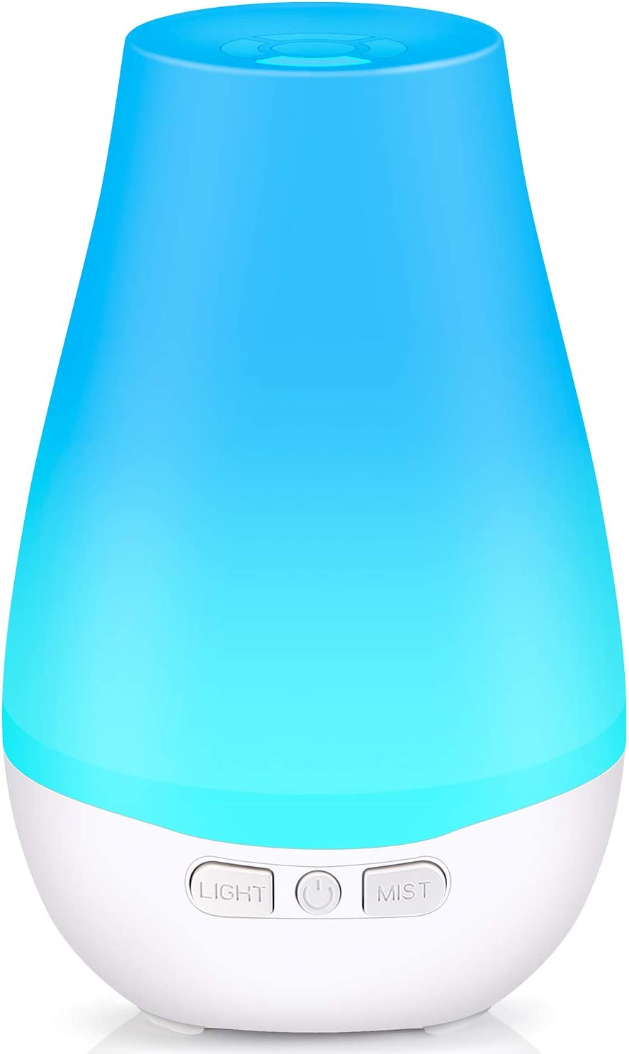 Tenswall Essential Oil Diffuser for Aromatherapy 180 ml Premium Essential Oil Cool Mist Humidifier with 7 Color LED Lights, Waterless Auto Shut off