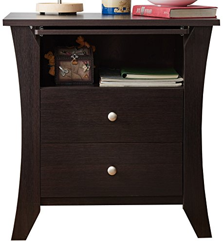 ioHOMES Contemporary Kassio Nightstand, Espresso (Beechwood Set Bedroom)