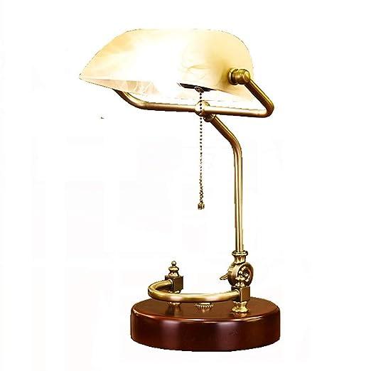 LIUJIE Retro LED lámpara de Mesa/Antiguo clásico banqueros lámpara ...