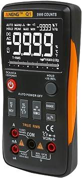ANENG M1 DC//AC-Spannung Stromwiderstand Digital Multimeter Digitaler Batteriekreis Misst Voltmeter Stromwiderstand Durchgangspr/üfung Hintergrundbeleuchtung LCD-Display Tragbar Rot