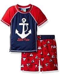 Baby Bunz baby-boys Baby Sail Away Swim Set Rashguard