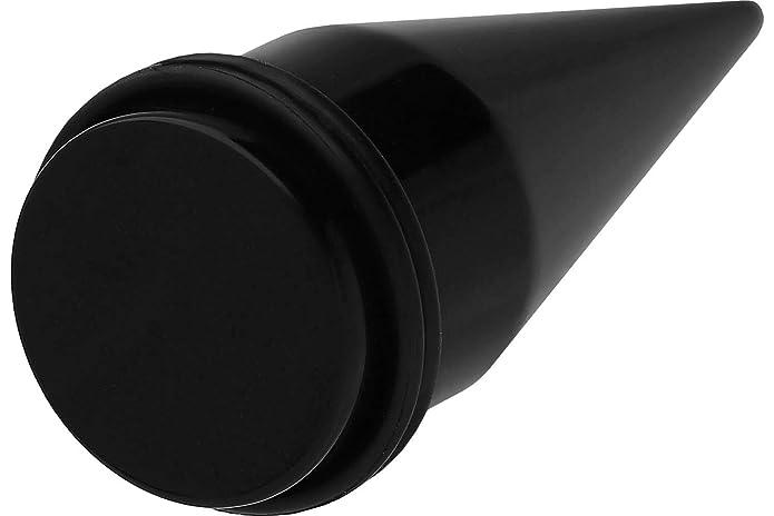 PIERCINGLINE® Dilatación en fibra acrílica MONOCOLOR 10 mm negra: Amazon.es: Joyería