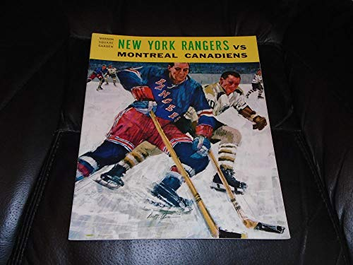 aad5d76d32e 1964 1965 MONTREAL CANADIENS AT NEW YORK RANGERS NHL HOCKEY PROGRAM NEAR  MINT