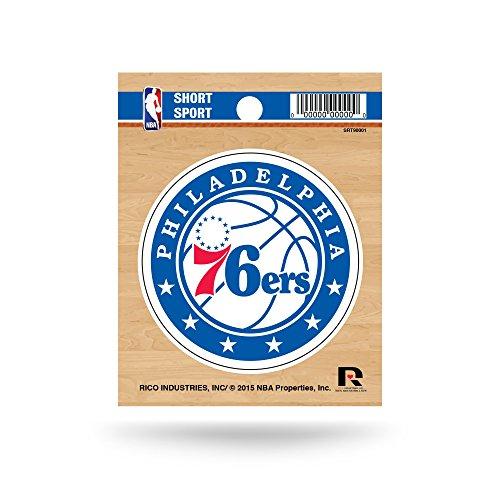 Rico Industries NBA Philadelphia 76ers Die Cut Team Logo Short Sport Sticker