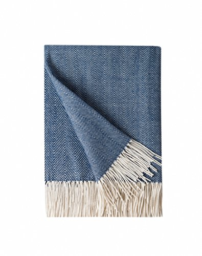 (Bourina Decorative Herringbone Faux Cashmere Fringe Throw Blanket Lightweight Soft Cozy for Bed or Sofa Farmhouse Outdoor Throw Blankets, 50