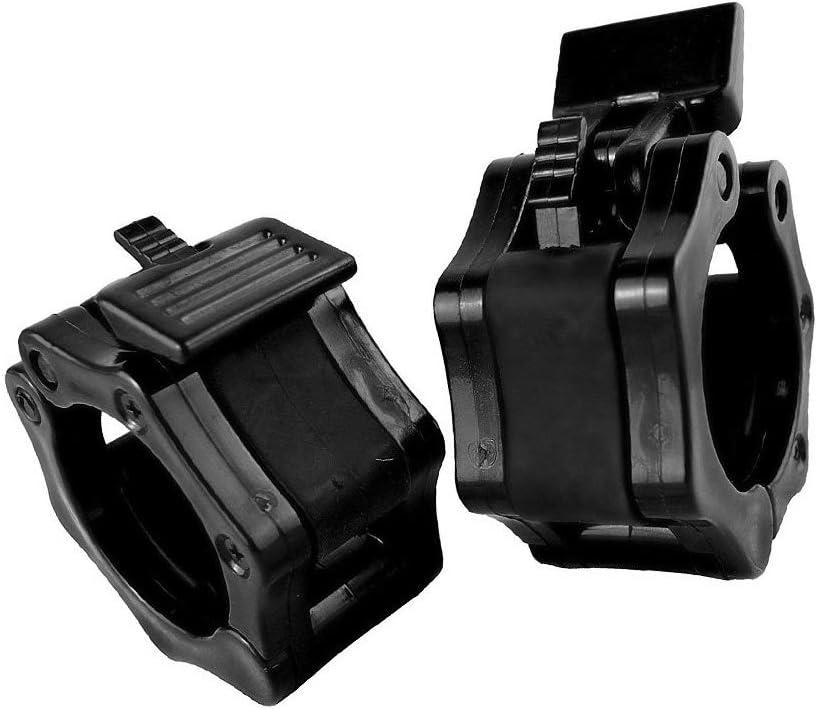 2 pcs//ensemble 20 mm en plastique Barbell collier de serrage halt/ère barre boucle verrouillage noir