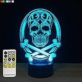 Best Gifts For Halloweens - Halloween Lights Skull lamp 3d Night Light 7 Review