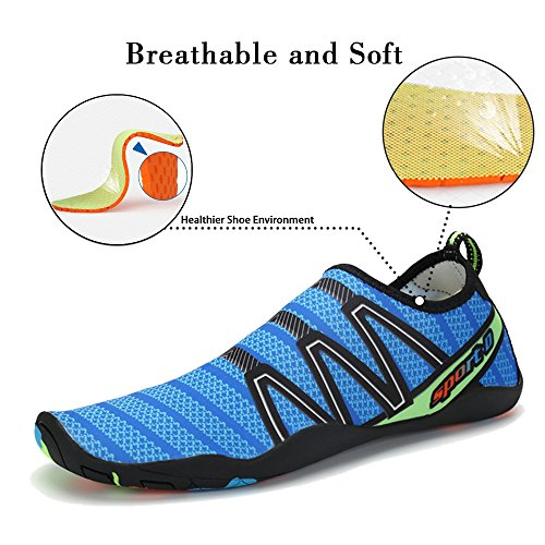 Multifunctional Barefoot Swim Men Drainage Holes Shoes Water blue with Women Coolloog for Cableway Beach Shoes Quick Dry wxR0nUF