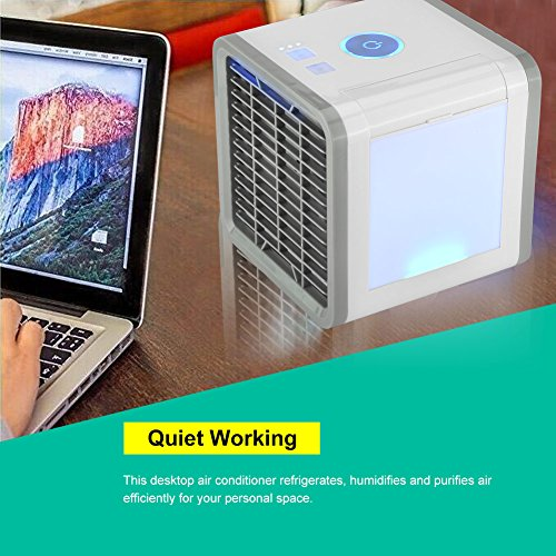 Save Power Desktop Air Cooler Portable Personal Air Conditioner Arctic Air Personal Space Cooler Easy Way to Cool Home Office Desk by Aramox (Image #1)