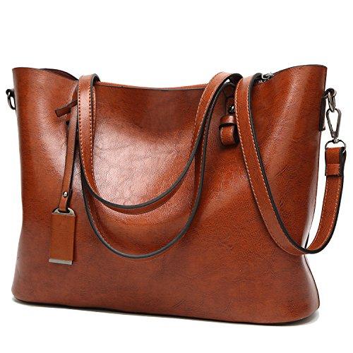 BNWVC Women Top Handle Satchel Handbags Tote Purse Shoulder Bag by BNWVC