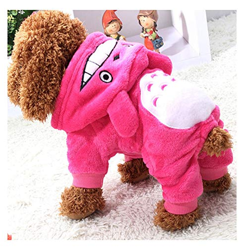 Fanatical-Night Cute Winter Pet Coat Clothing for Dog Puppy Outfit Winter Dog Clothes for Small Dogs Pet Hoodie,Pink,S -