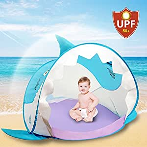 NEW FOR 2017 | Sunny Hippo Pop Up Baby Tent with UV Protection | Little Shark  sc 1 st  Amazon.com & Amazon.com: NEW FOR 2017 | Sunny Hippo Pop Up Baby Tent with UV ...