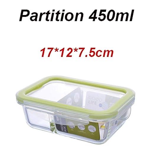AQGY Lunch Box Glass Bento Box Microondas Refrigerado Sellado A ...