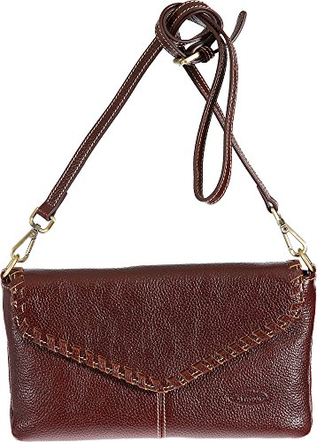 Connie Pebbled Leather Crossbody Wristlet Clutch by Overland Sheepskin Co
