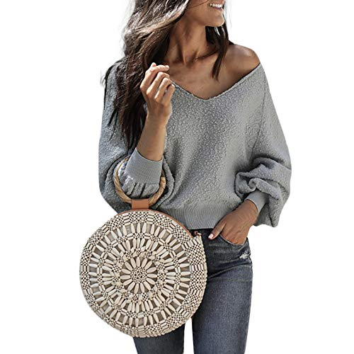 Clearance!Youngh Womens Blouses V-Neck Solid Loose Lantern Long Sleeve Velvet Casual Blouse T Shirt Tops -