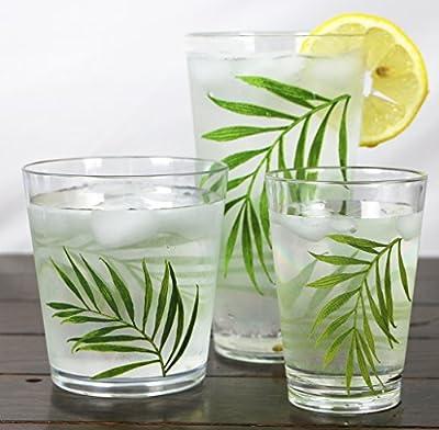 Corelle Coordinates Bamboo Leaf Acrylic Juice Glasses