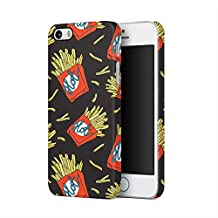Hot French Fries Fast Food Pattern Apple iPhone 5, iPhone 5s, iPhone SE Plastic Phone Protective Case Cover