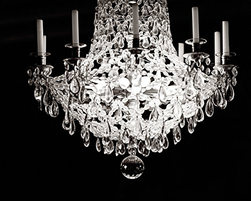 Paris Chandelier Fine Art Photography Print by Melanie Alexandra - Darkness and Light