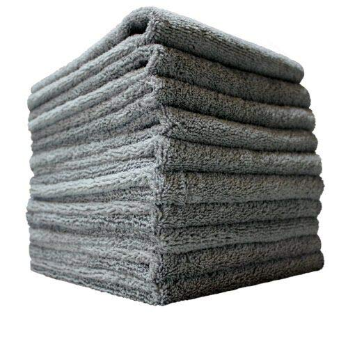 (THE RAG COMPANY (10-Pack) 16 in. x 16 in. Professional EDGELESS 365 GSM Premium 70/30 Blend METAL POLISHING & DETAILING Microfiber Towels THE)