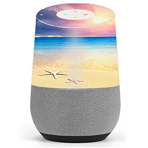 Skin Decal Vinyl Wrap for Google Home stickers skins cover / Starfish on the sand Beach Sunset by itsaskin1