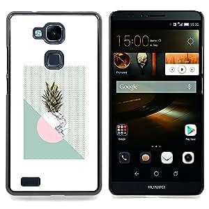 - Pineapple Moon Weed Green White/ Duro Snap en el tel????fono celular de la cubierta - Cao - For HUAWEI Ascend Mate 7