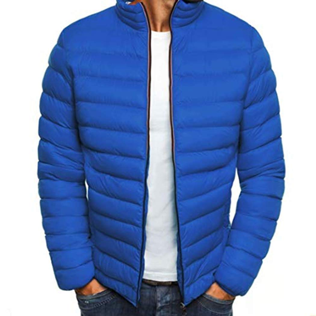 Amazon.com: ANNY - Chaqueta de algodón para hombre de moda ...