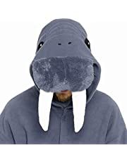 dressfan Rompertje dier overall walross nachtkleding volwassenen pyjama's unisex polar fleece cosplay kostuums prestatiekostuum