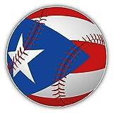 Puerto Rico Flag Baseball Ball Home Decal Vinyl Sticker 5   X 5