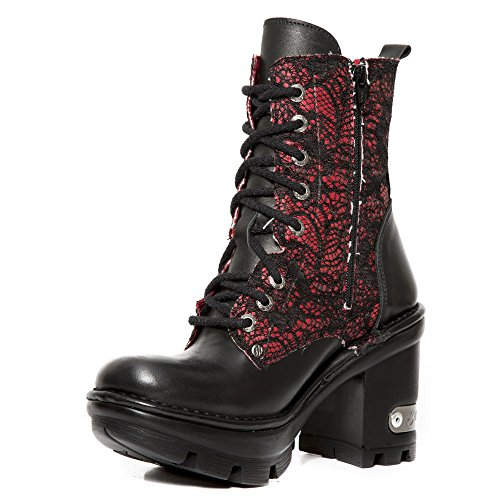 New Rock Red Leather M.Neotyre07T S4 Ready-Stock Neotyre Available on 45 days Neotyre Women