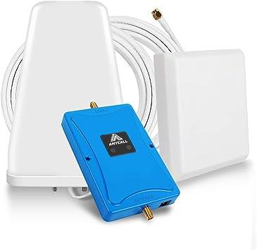 ANYCALL Amplificador Señal Movil 4G/3G/2G Repetidor gsm 800/900MHz Mejorar la Red y Llamar Soporte Movistar/Orange/Vodafone para Casa/Oficina: Amazon.es: Electrónica