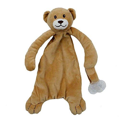 Applesauce Nummy Blanket Pacifier Holder, Bear