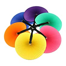 Solid Color Paper Fans : package of 12
