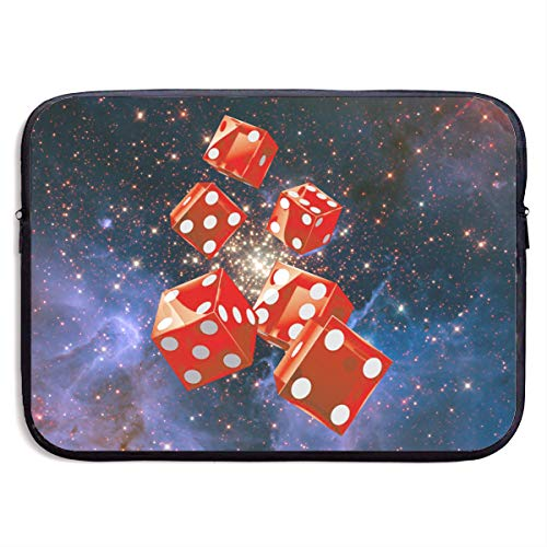 Creative Red Dice Pattern Laptop Sleeve Case Bag Cover for Apple MacBook/Asus/Acer/Samsung/DELL/HP/Lenovo/Sony/RCA Computer 15 -