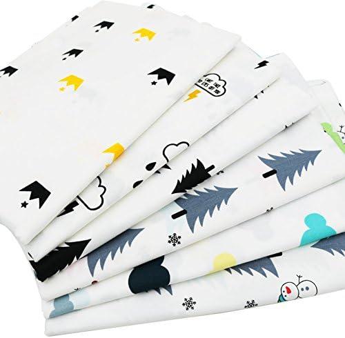 6pcs/lot 40 cm * 50 cm dibujos animados Impreso Tela de algodón para Patchwork bebé babero muñeca de costura Material telas para Patchwork: Amazon.es: Hogar