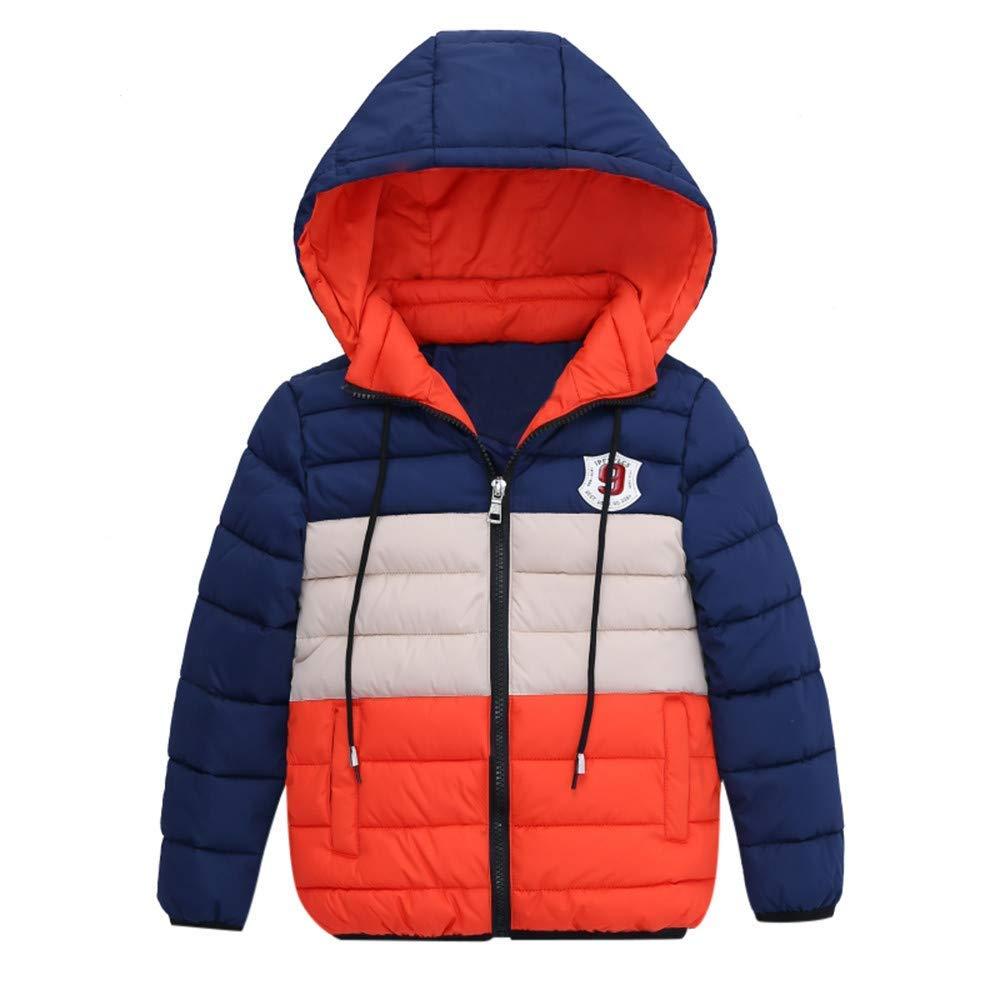 Londony▼Clearance Sales,Baby Boys Puffer Raincoat Jacket Coat Hooded Sweatshirt Colorblock Rain Jacket
