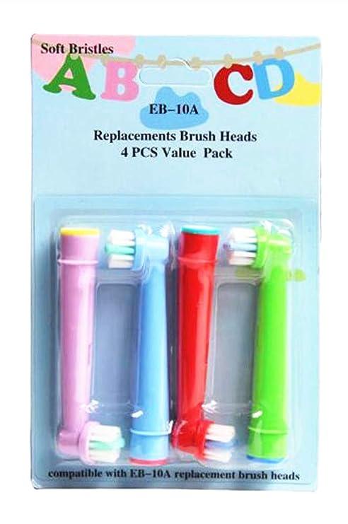 EB-10A - Cabezal de cepillo de dientes de repuesto profesional para niños, diseñado