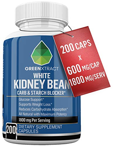 Carb Blocker - 1800 MG - 200 X 600 MG of 100% Pure White Kidney Bean Extract