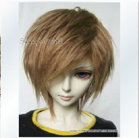 Doll Fur Wig (7-8inch(18-19cm): 1/4 BJD Doll MSD Fur Wig Dollfie Dark Brown/SW29)