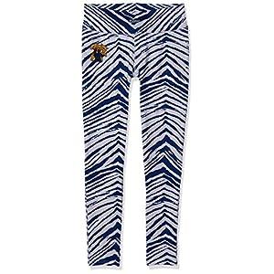 NCAA Kentucky Wildcats Women's Zebra Leggings, Blue/White, Medium