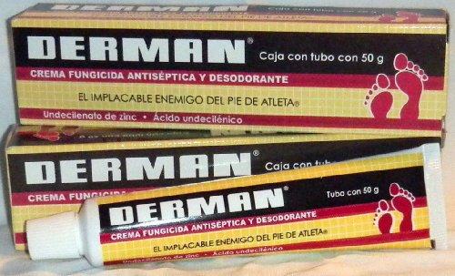 2 X Derman 100g Total Zinc Undecylente Antifungal Athlete's Foot & Antiseptic