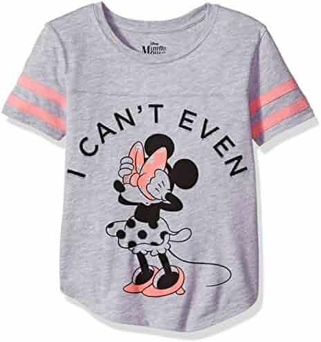 Disney Big Girls' Minnie Mouse Football Fashion Tee