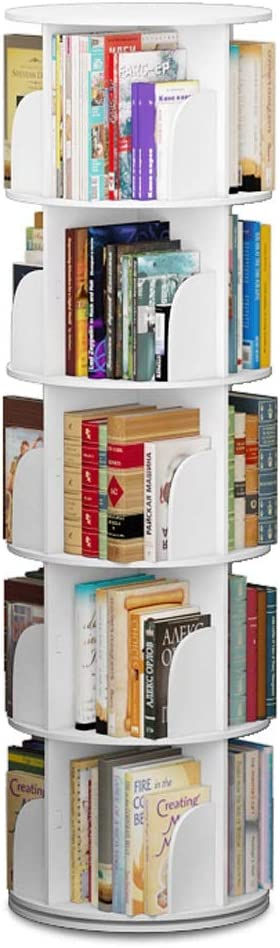 BLWX - Blanco minimalista circular creativo giratorio estantería ...