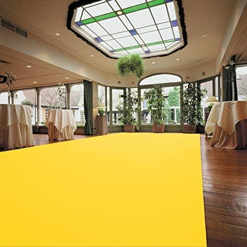 Eventteppich Gelb 2,00m x 6,00m Hochzeitsl/äufer PODIUM Hochzeitsteppich Empfangsteppich Teppichboden f/ür Messe /& Event VIP Event-Teppich-L/äufer