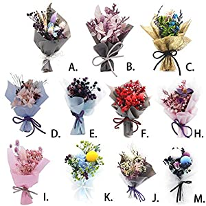 Greatpassion Everlasting Flower Ever Lasting Flower DIY Flower for Wedding Party Birthday Valentine's Day Mother's Day Bouquet Ornament 32