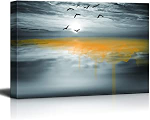 wall26 Canvas Wall Art Black and White Scenery Pictures Home Wall Decorations for Bedroom Living Room Paintings Canvas Prints Framed - 16x24 inches