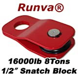 "Runva 8 Ton 1/2"" Snatch Block Towing 4x4"