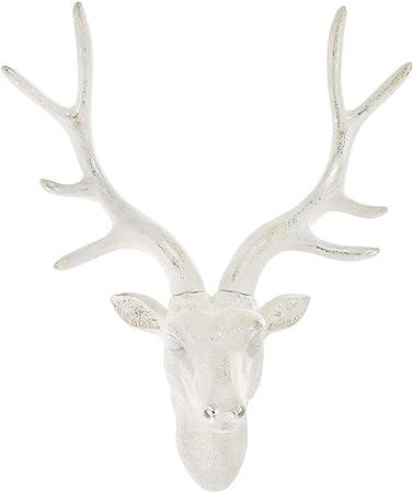 Testa di cervo ( White ) Pine Ridge grande da appendere alla parete Faux Taxidermy Decor bianco cervo scultura